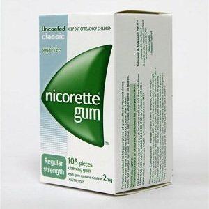 nicorette gum classic 2mg 105 ct