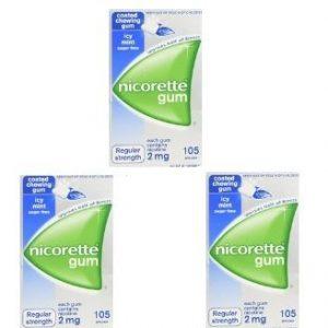 3 boxes nicorette gum